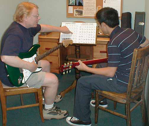 Taking lessons at Jensen Music